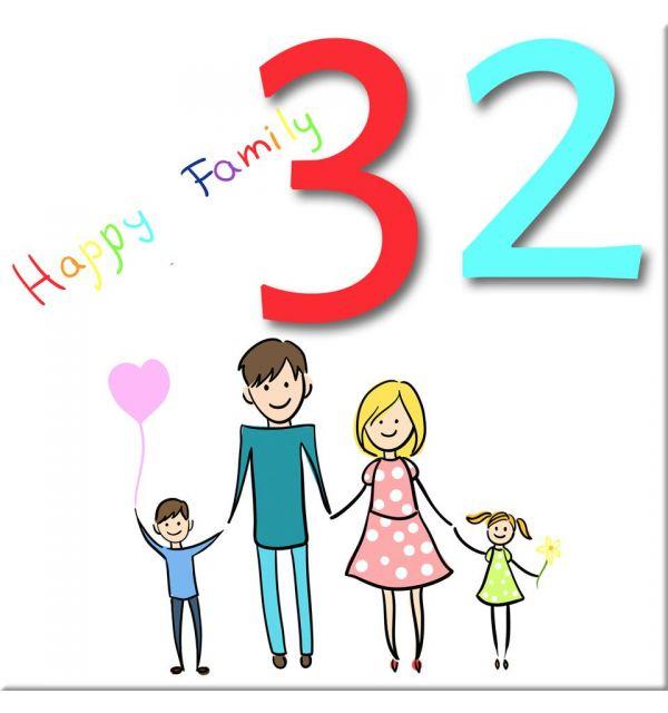 Plaque numéro de maison Famille