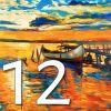 Plaque numéro de maison la mer