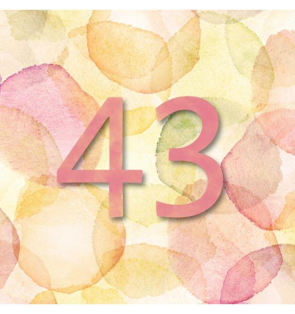 Plaque numéro de maison tache aquarelle