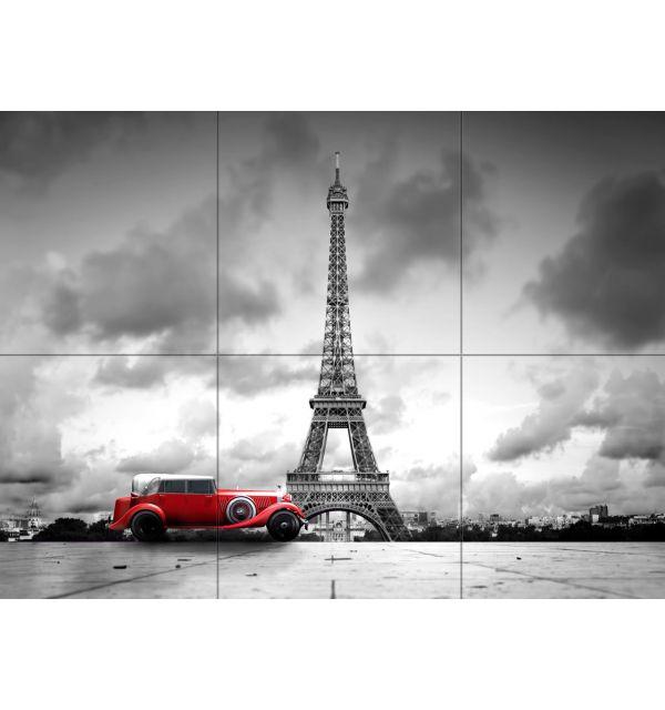 Crédence Carrelage Tour Eiffel Voiture