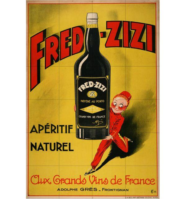 Crédence Vintage Fred Zizi